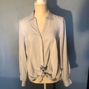 Blue Button Down Blouse by Candie's